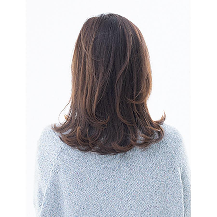 後ろから見た 人気ミディアムヘアスタイル8位の髪型