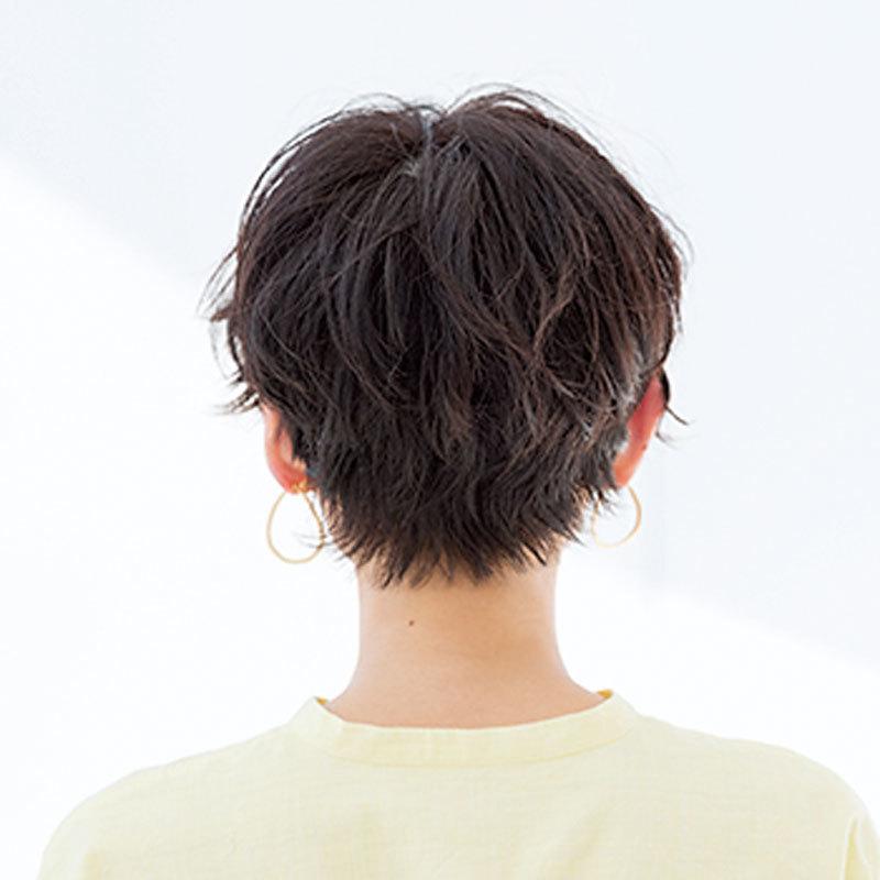 短くても柔らかい動きが映える無造作な柔髪ニュアンスショート【40代のショートヘア】_1_1-3
