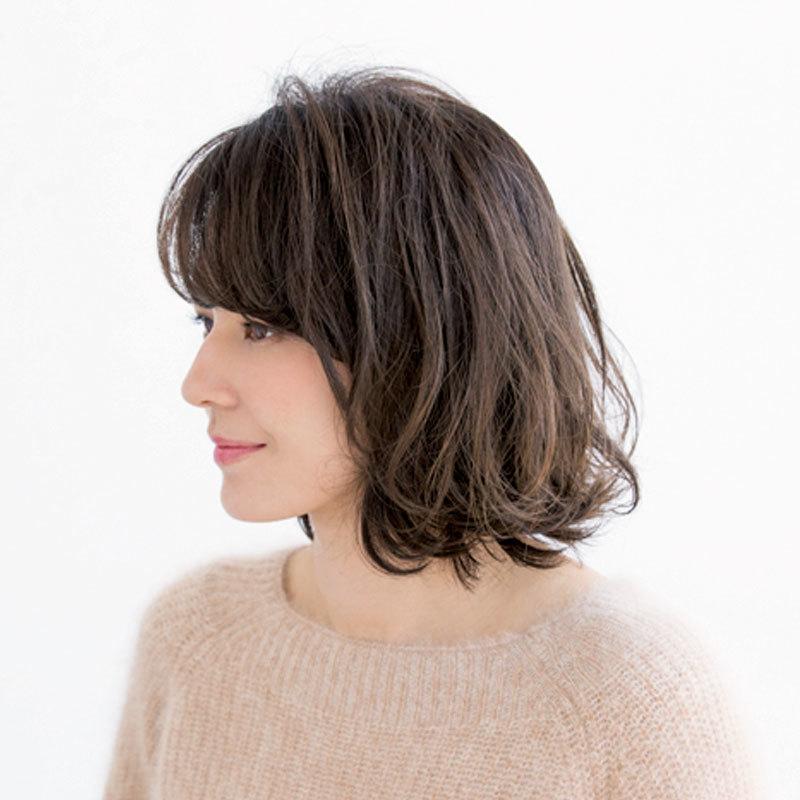 前髪の作り方しだいで-5歳!柔らか印象がポイントの40代からのフェミニンボブ【40代のボブヘア】_1_1-2
