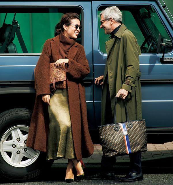 大草直子の休日ファッションコーデ パートナーと車で旅行に行くときコーデ