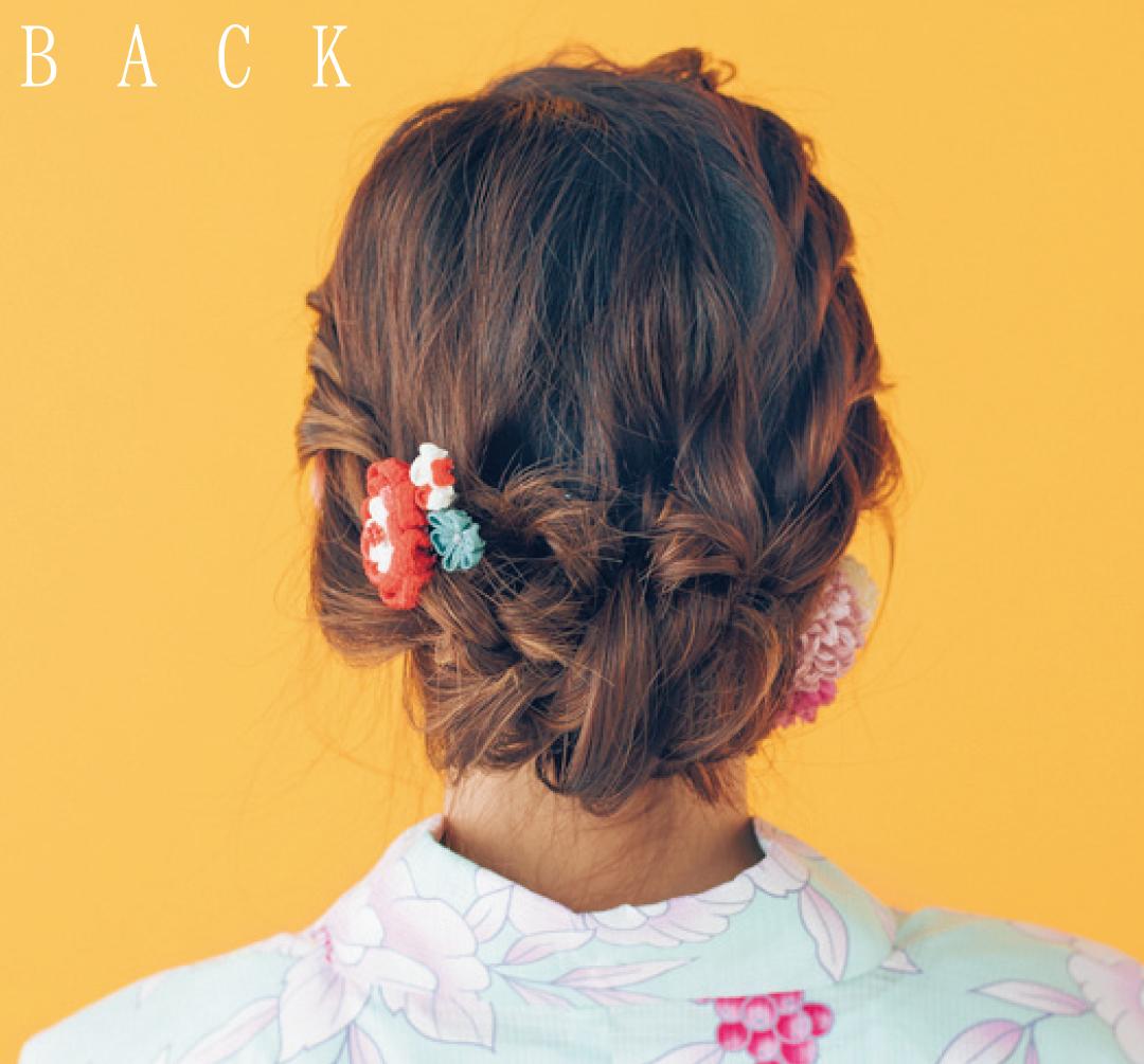 ゆかたの髪型・ロングで横顔美人になれるねじりヘア★【ゆかたの着付けと髪型】_1_3-2