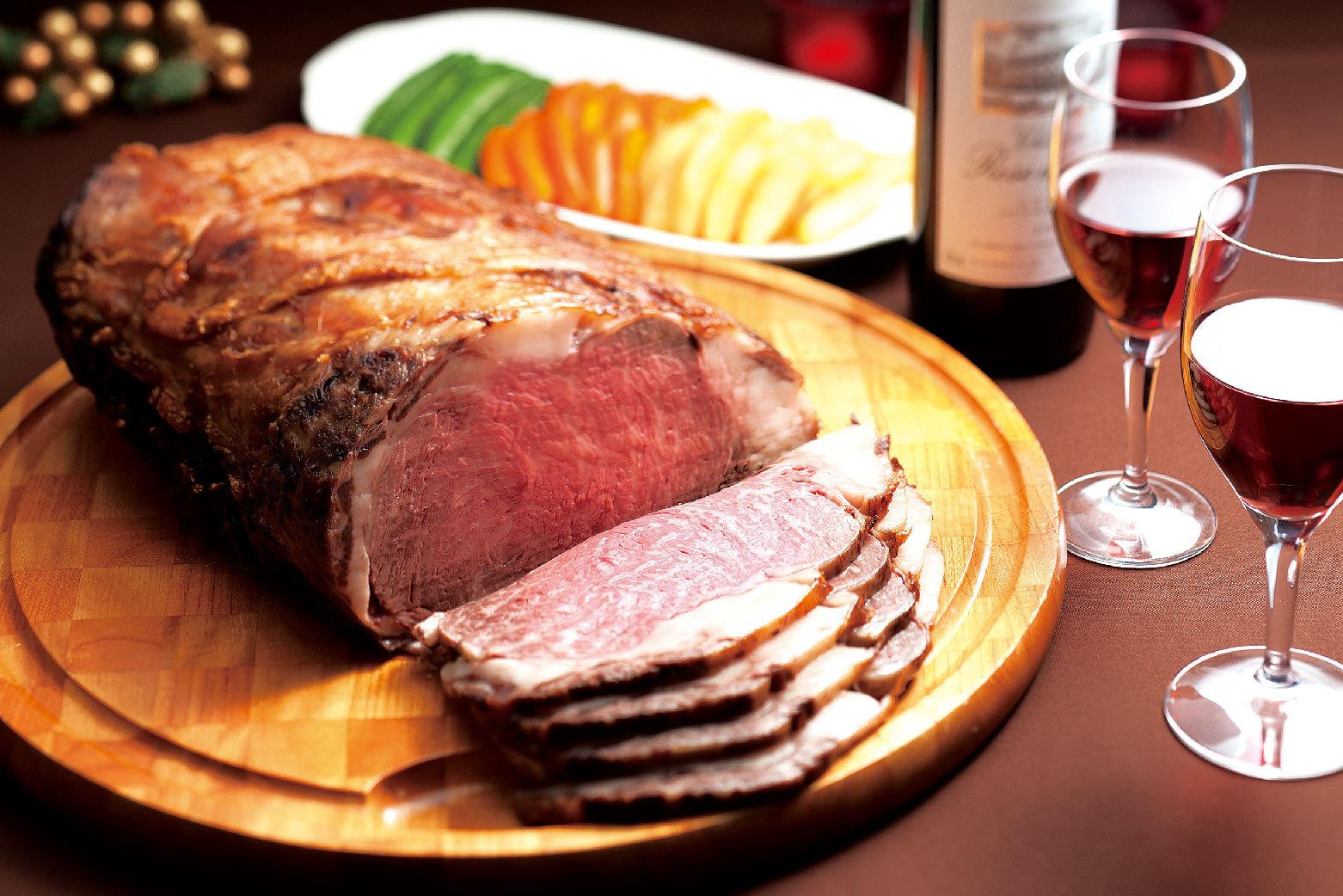 「ローストビーフ」(約5名様分・国産牛12500円、オーストラリア産牛8000円)