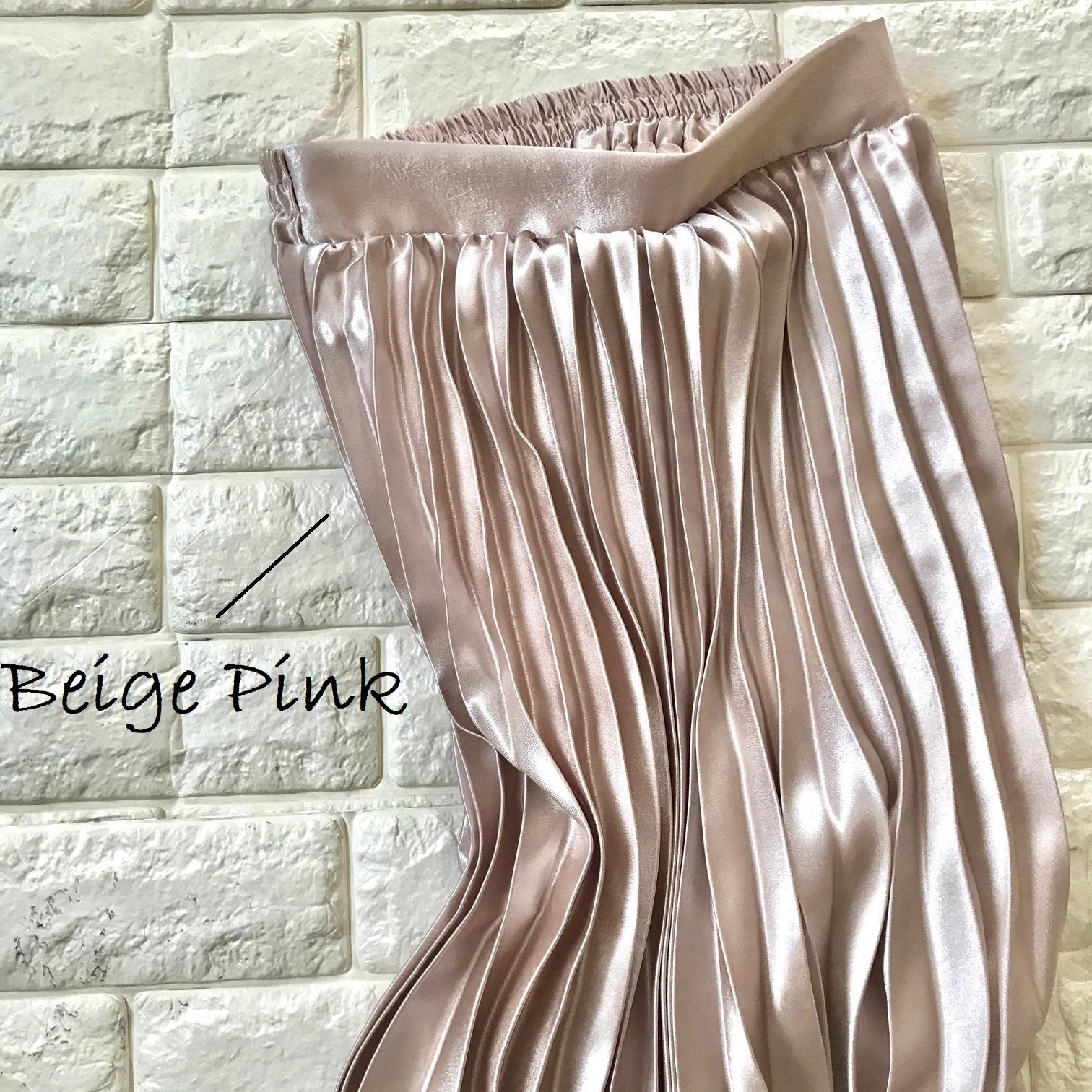 ベージュピンクのスカート生地アップ画像