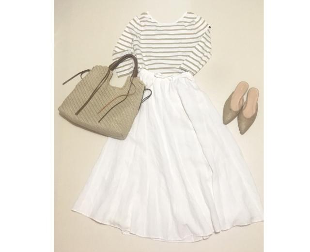 仕事後の買い出しの日。spick&spanのリネンロングスカート