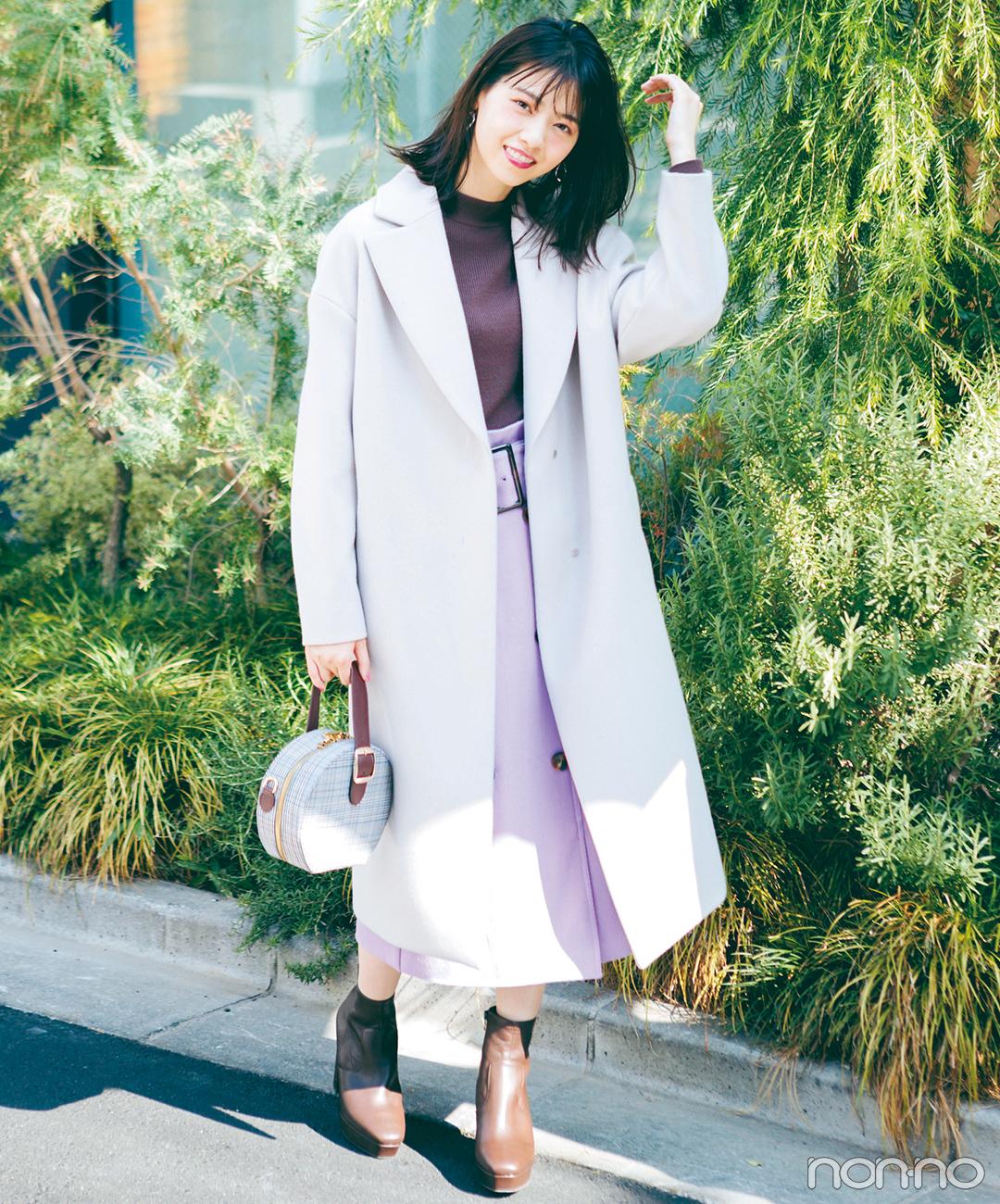 西野七瀬の冬イベシーズンはフェミニンな旬配色で♡【毎日コーデ】