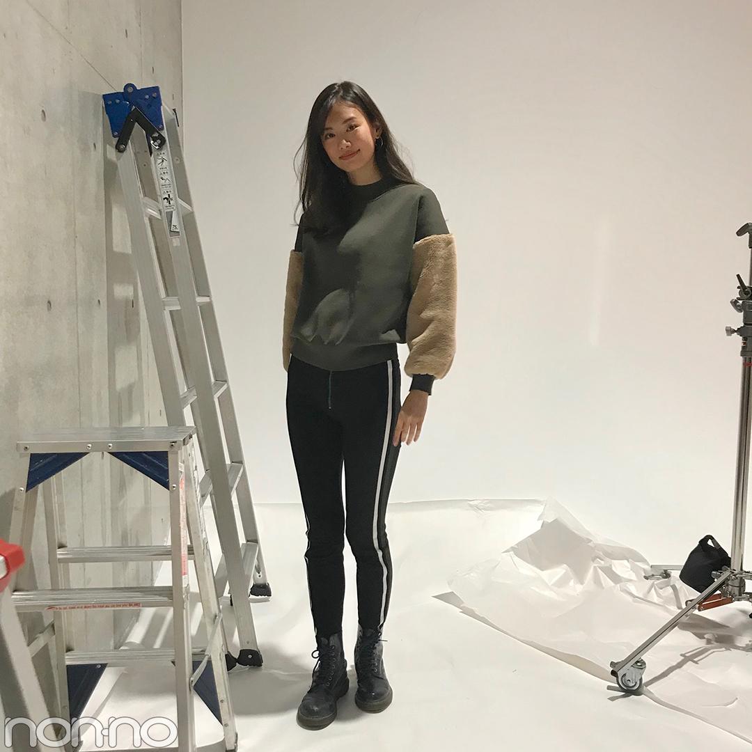泉はるの今っぽカジュアルコーデ♡ ZARAのパンツ&ドクターマーチンのネイビー【モデルの私服スナップ】_1_1
