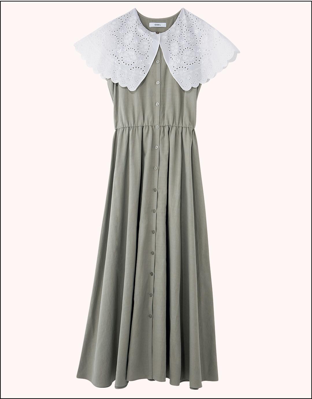 江野沢愛美の購入品 COEL 2WAY刺繍衿ワンピース