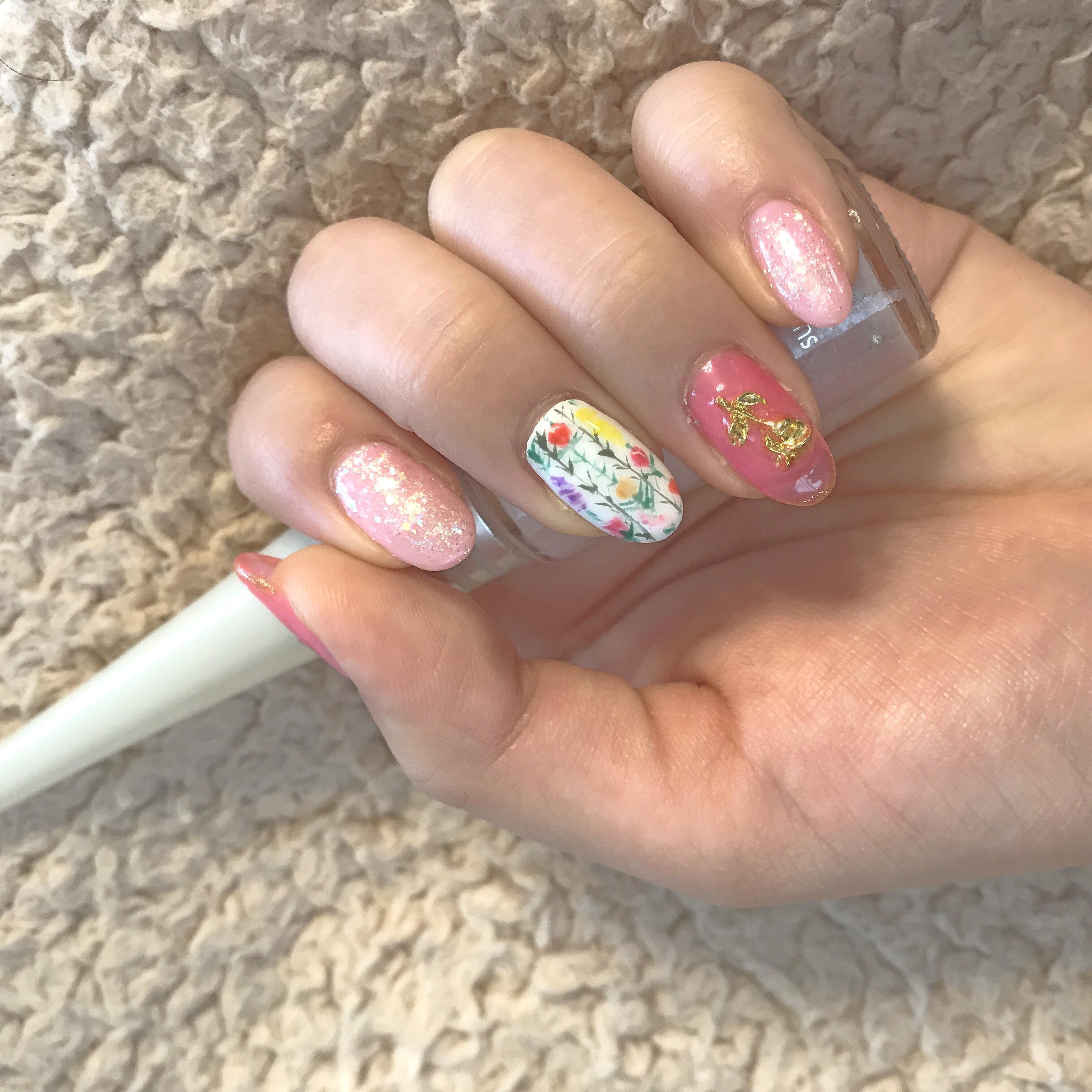 【今流行りの アシメネイル】5月のNew nail紹介いたします♡♡_1_4