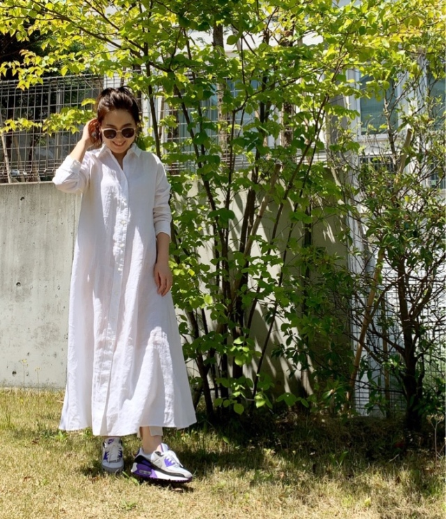 【STAY HOME】着用率高め!一枚で様になるシャツワンピース_1_3