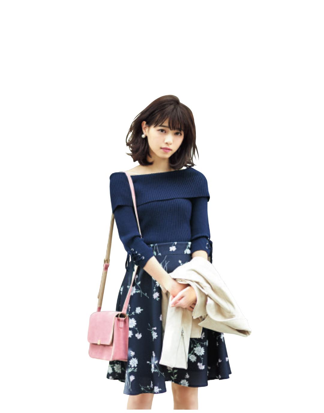 濃い色花柄スカートで、大人っぽくスタイルUPしたいときのポイントは?_1_1-2