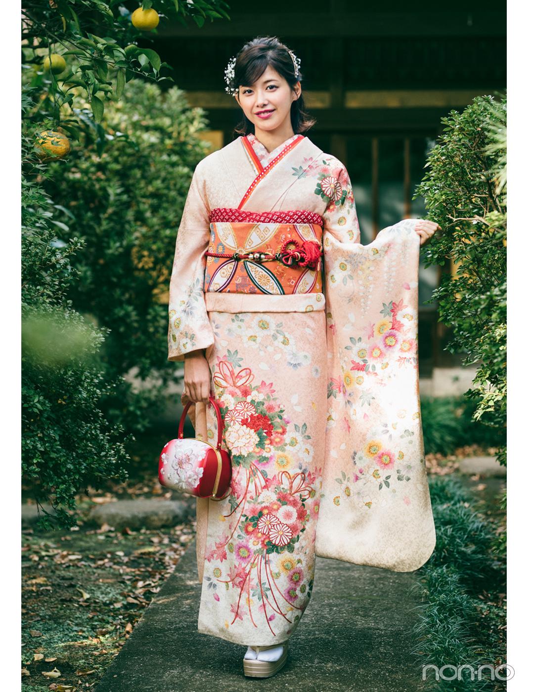渡邉理佐の振袖コーデ♡ ピンクは同系色合わせで上品&可愛らしく【成人式2020】_1_1