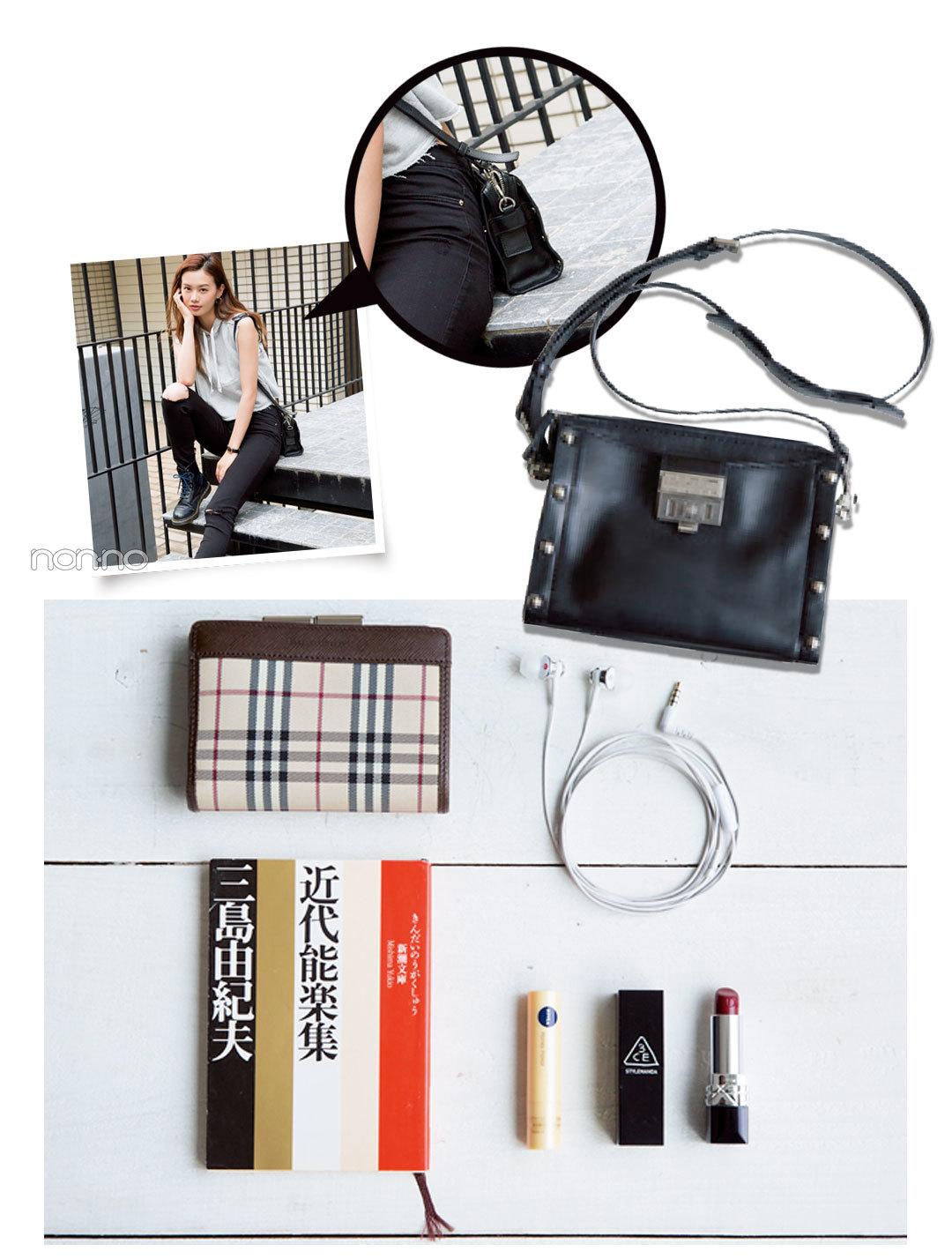 ノンノモデルのバッグとバッグの中身をのぞき見! サンローランのバッグも登場♡_1_1-3