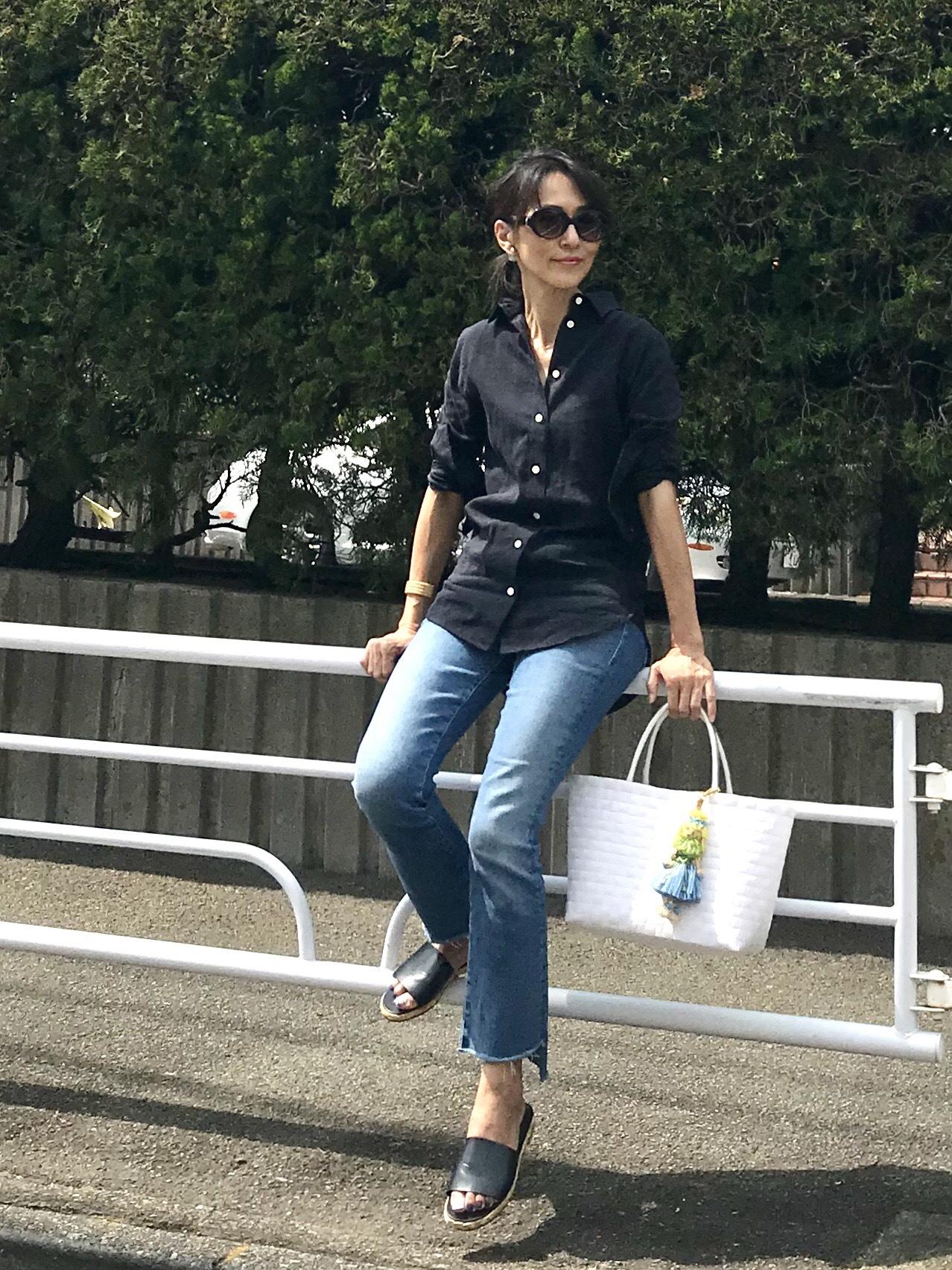 ベーシックなシャツスタイル♡_1_2