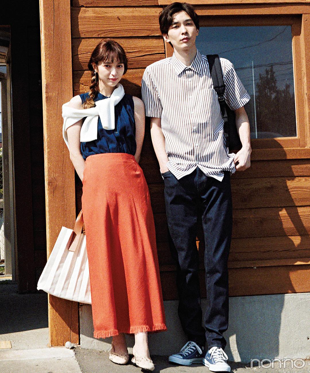 彼も惚れ直す♡ きれい色スカートでデートコーデが完成!【毎日コーデ】