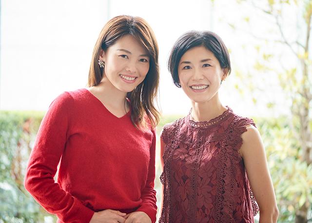 美女組:(右)坪井路子さん、(左)武田宏美さん