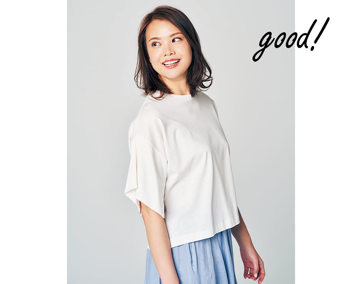 大柄さんの白Tシャツ4
