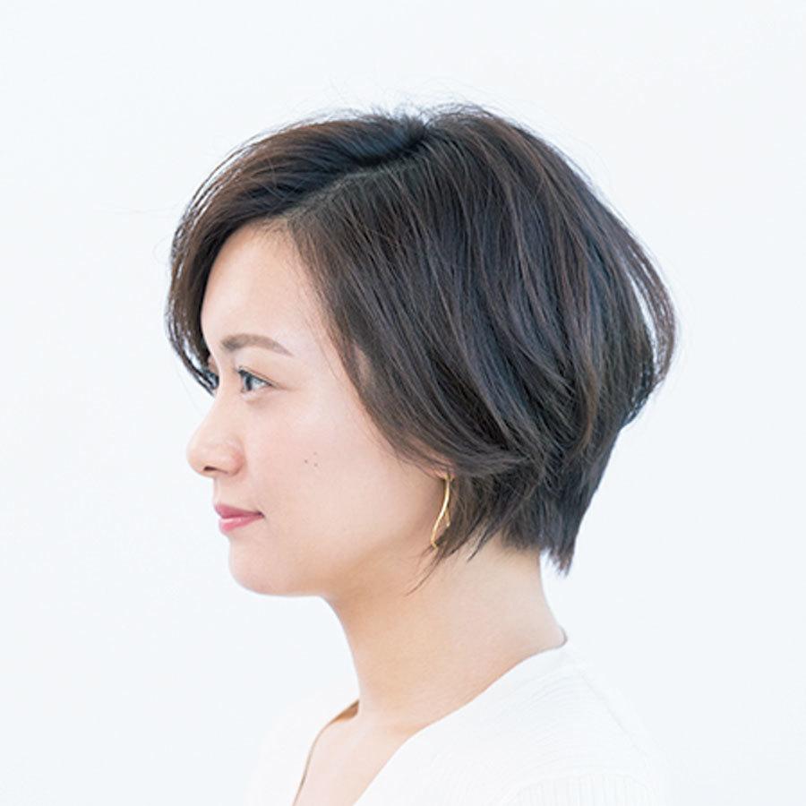 ボリュームゾーンを上げて小顔効果のあるコンパクトショート【40代のショートヘア】_1_1-2