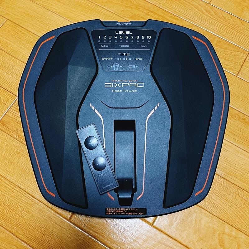 SIXPADのFootFitLiteはリモコンが着脱式になっていて便利
