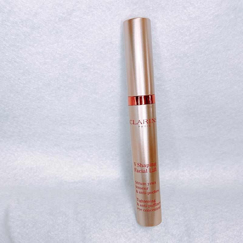 クラランスのむくみやくすみやくまに対応するエイジングケア目もと用美容液のグランアイセラムV