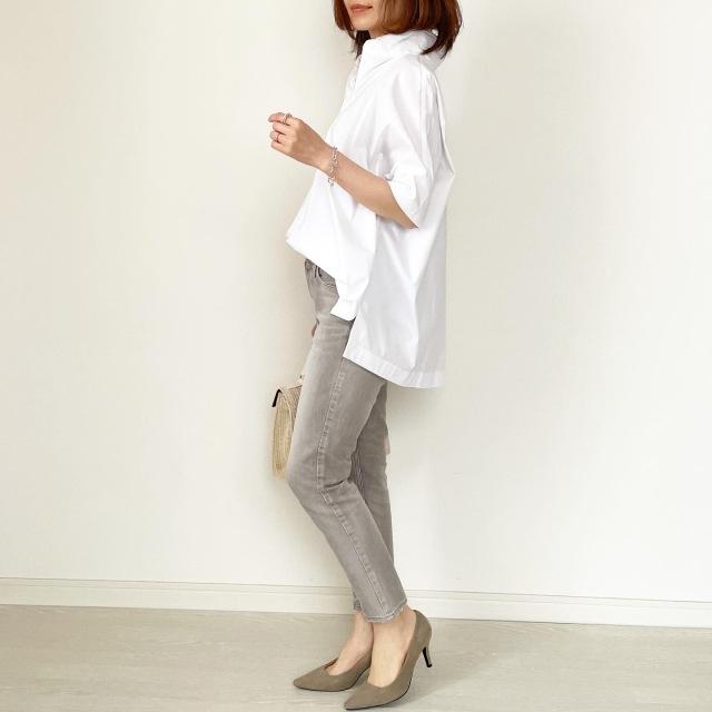 春の白シャツ4スタイル全てお見せします!【tomomiyuコーデ】_1_7