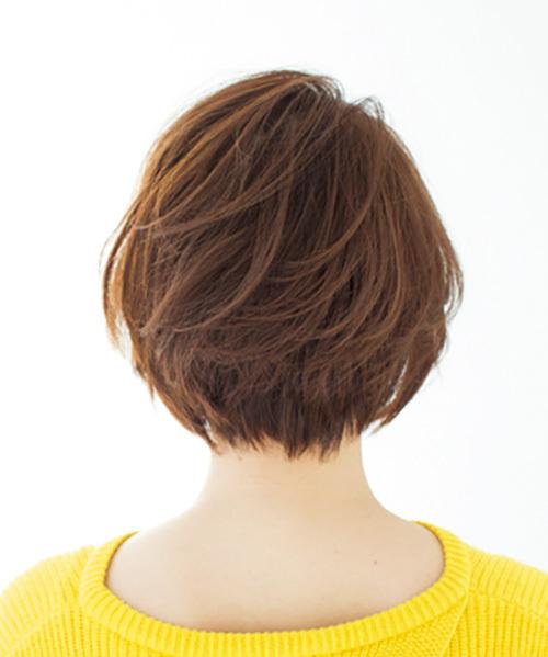 丸いフォルムとふんわり毛流れが女らしい、華やかショート【40代のショートヘア】_1_1-3