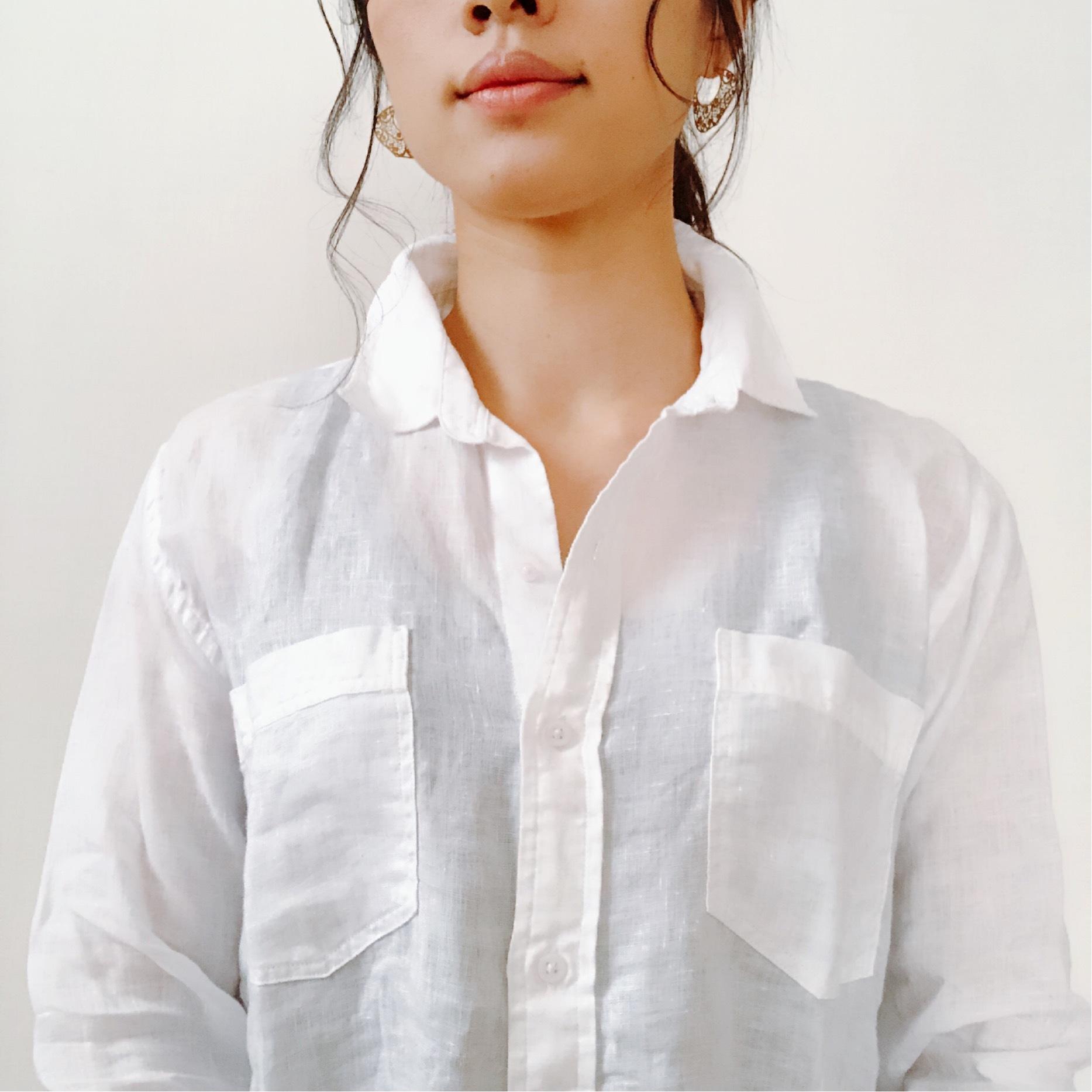 今年はZARAのリネンシャツにアップデート。_1_3