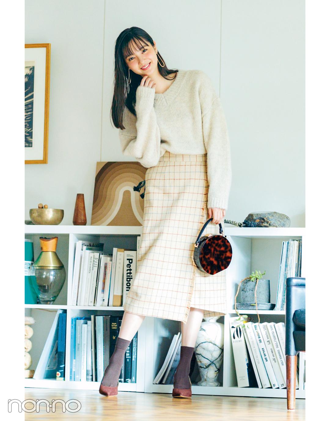 新川優愛の冬の推し服★ チェックのスカートはこう着こなす!_1_3