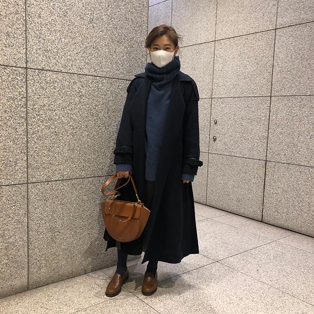 三尋木奈保さんコートコーデ