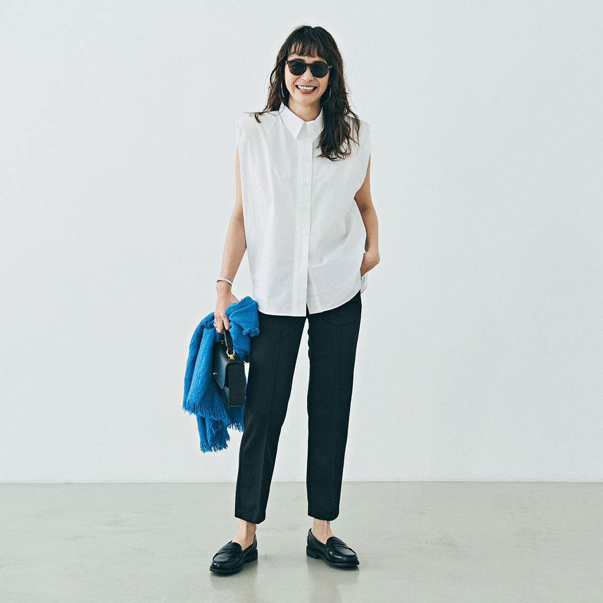 「ストール」でアラフォーの夏コーデをブラッシュアップ! 冷房対策にもおしゃれにも効くストールの取り入れ方  40代ファッション_1_5