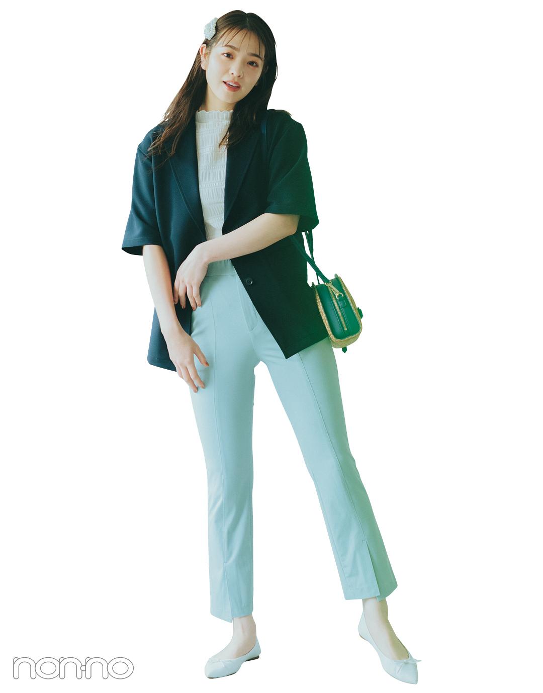 『横田真悠』の『 カラーパンツ』モデルカット5−1