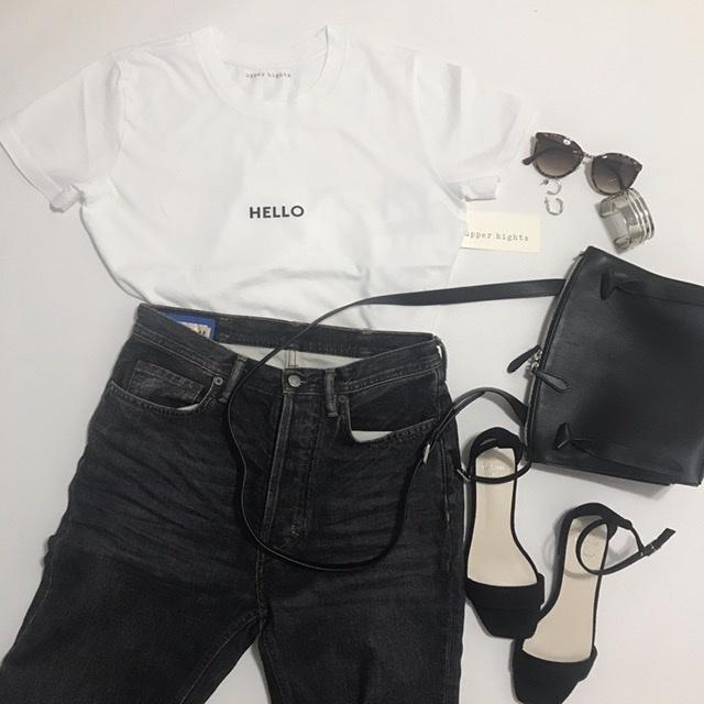 なんとなく難しい白TシャツもロゴTならオシャレになる!_1_1