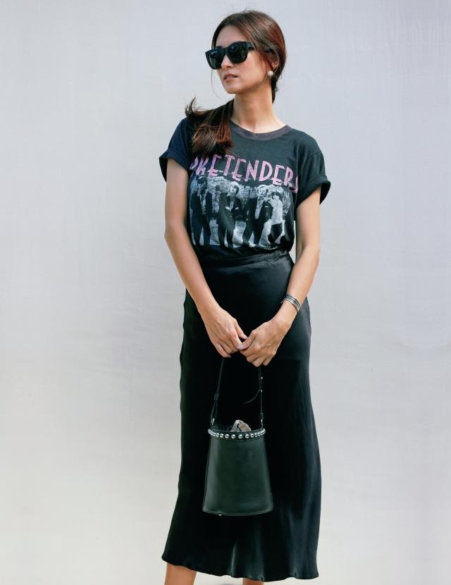 ヴィンテージTシャツを美ボトムでアップグレード