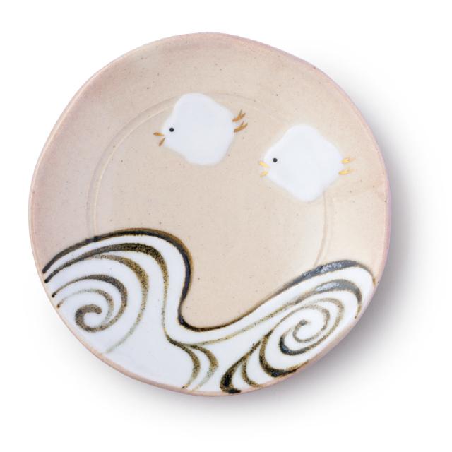 琳派千鳥豆皿(丸型)