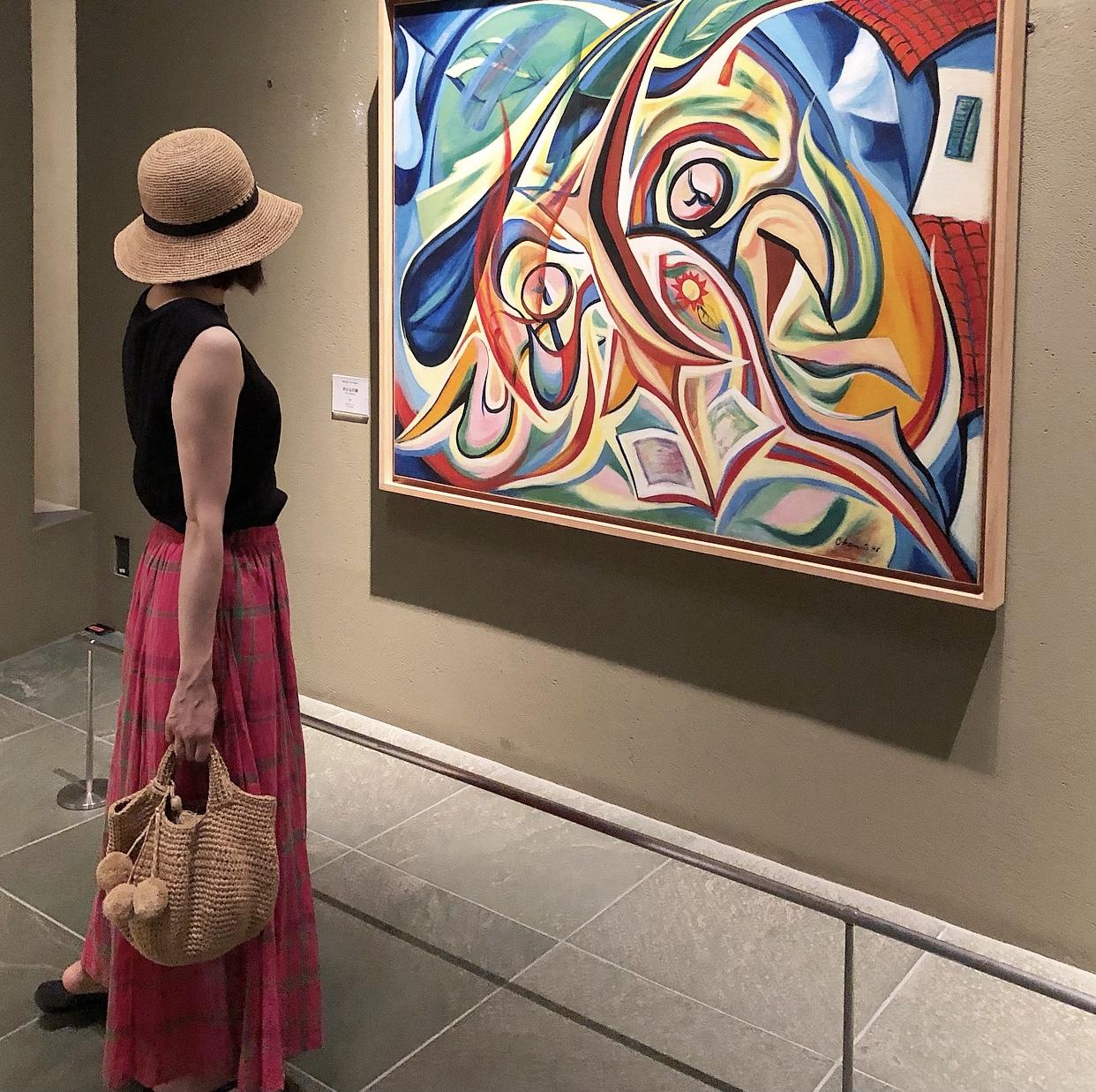 ピンクスカートで、岡本太郎美術館へ❤︎_1_3-3