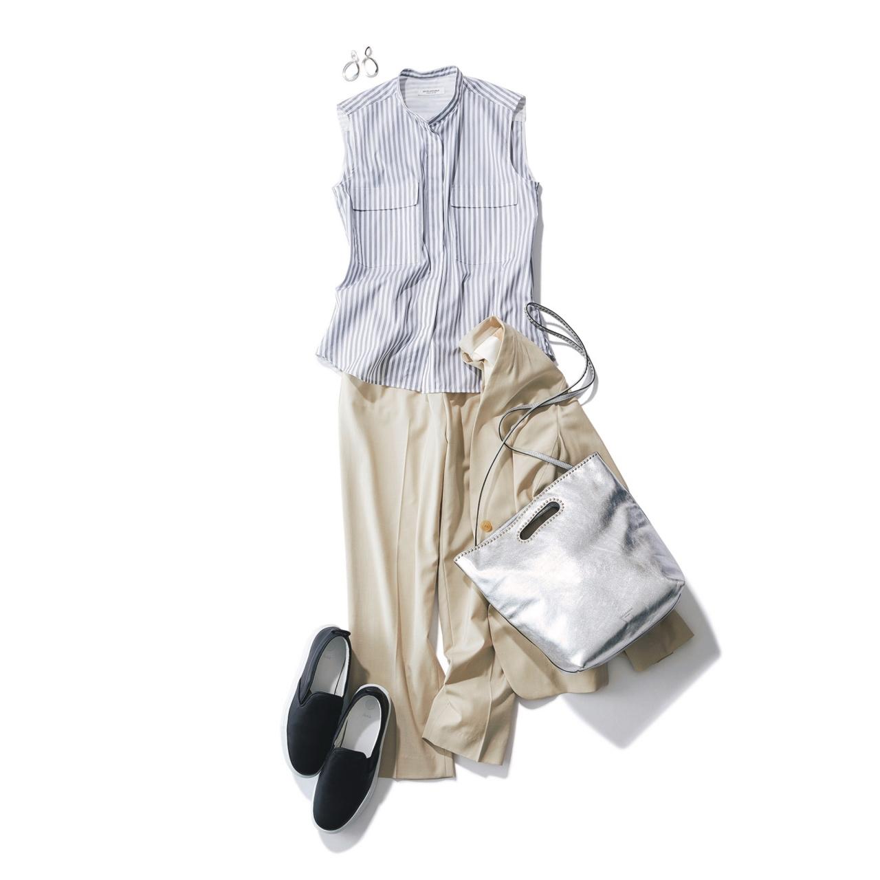 セットアップ×スニーカーのファッションコーデ