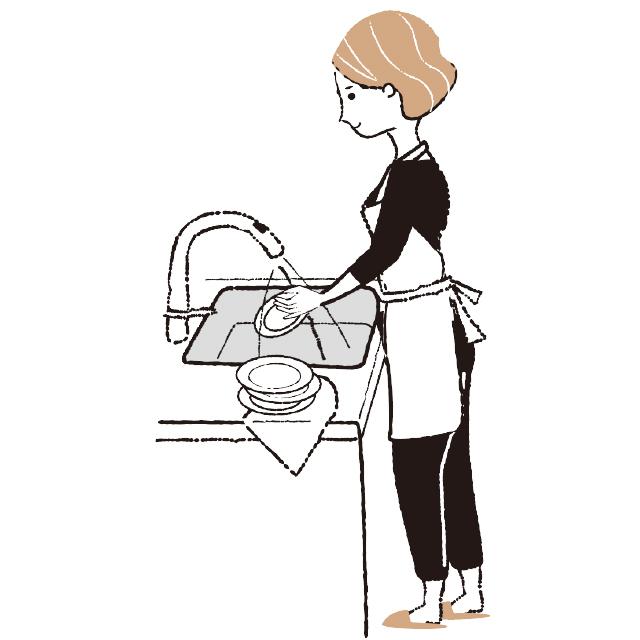 食器は手洗いをする