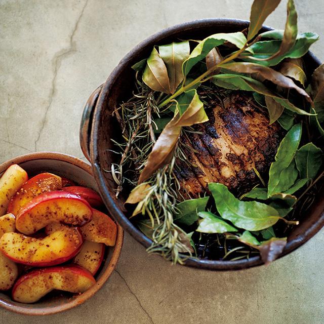 りんごのキャラメルソテー 豚肉のポットローストレシピ 有元葉子レシピ
