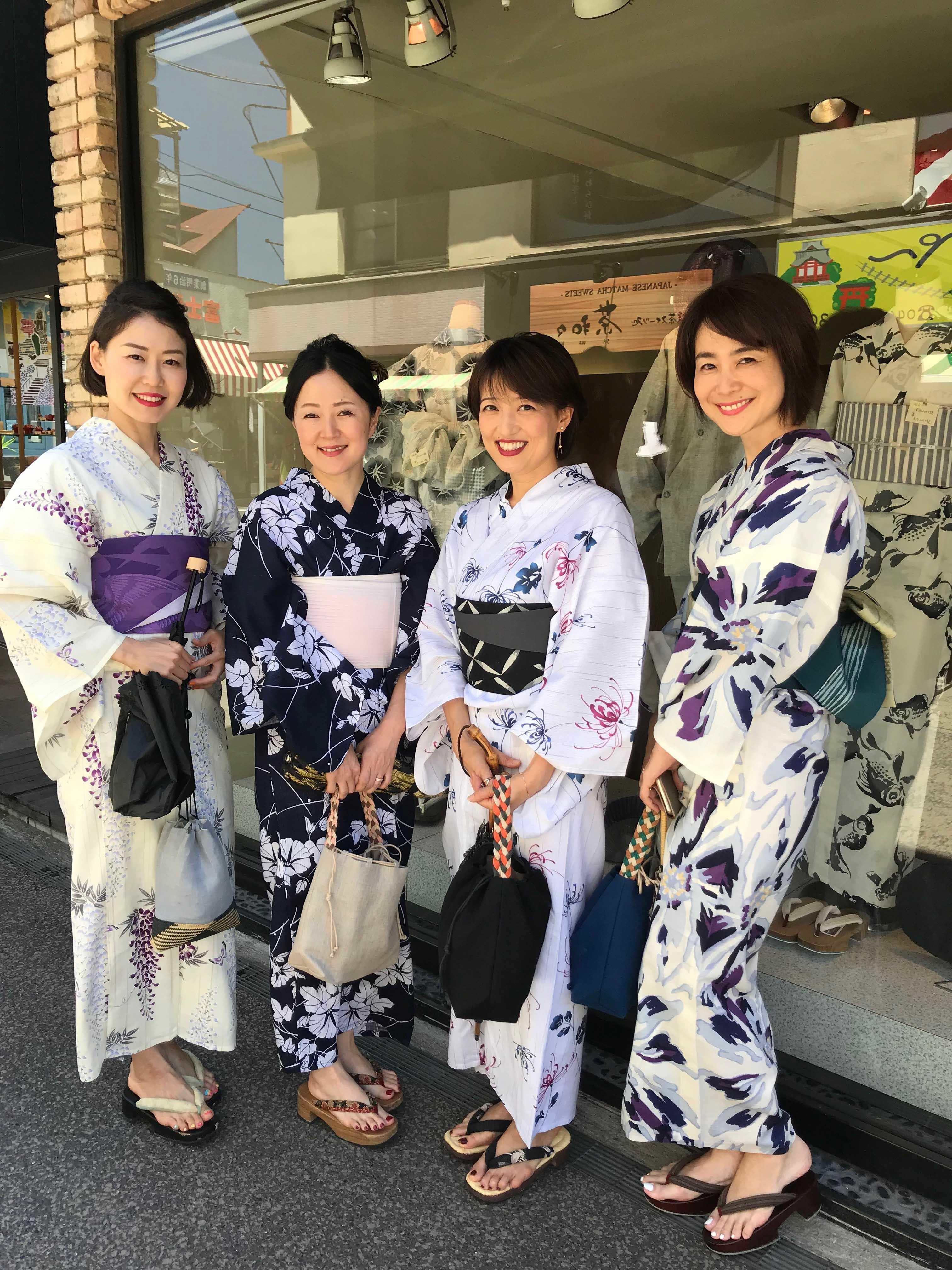 浴衣を着た美女組No.110 あんまきさんと友人