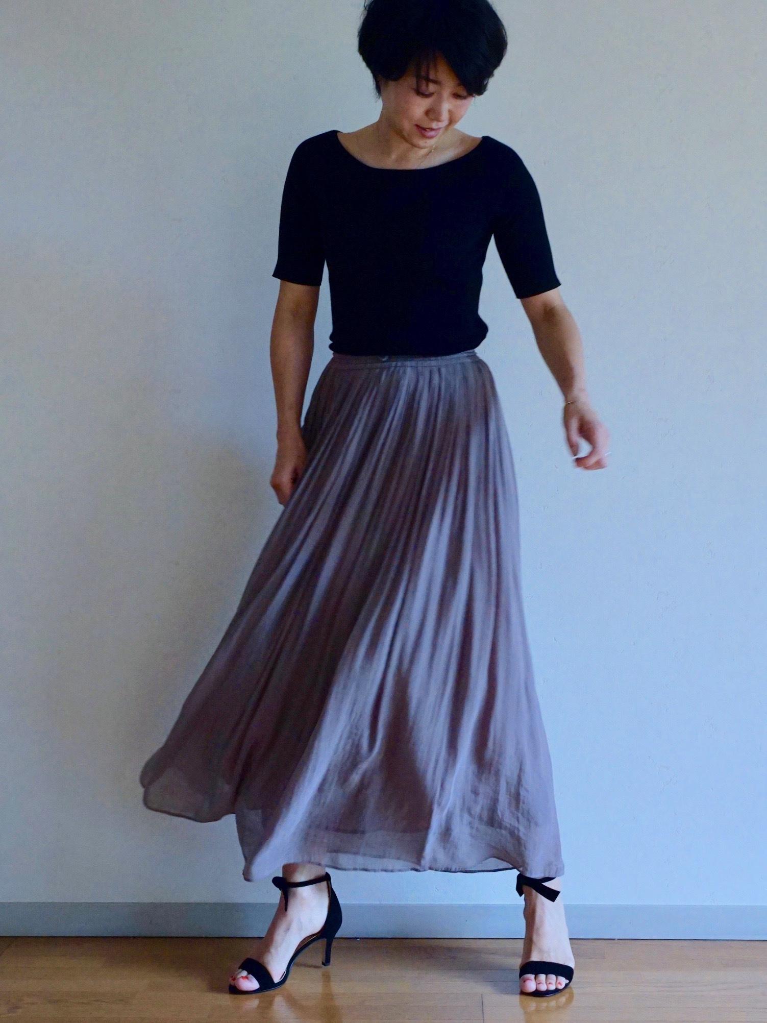 女っぷりを叶えてくれるふんわりスカートで私のワンツーコーデ_1_1-3