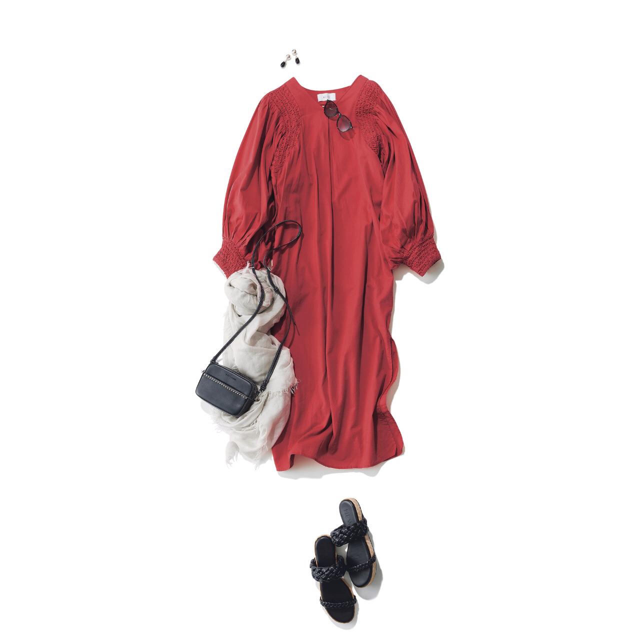 「ストール」でアラフォーの夏コーデをブラッシュアップ! 冷房対策にもおしゃれにも効くストールの取り入れ方 |40代ファッション_1_10