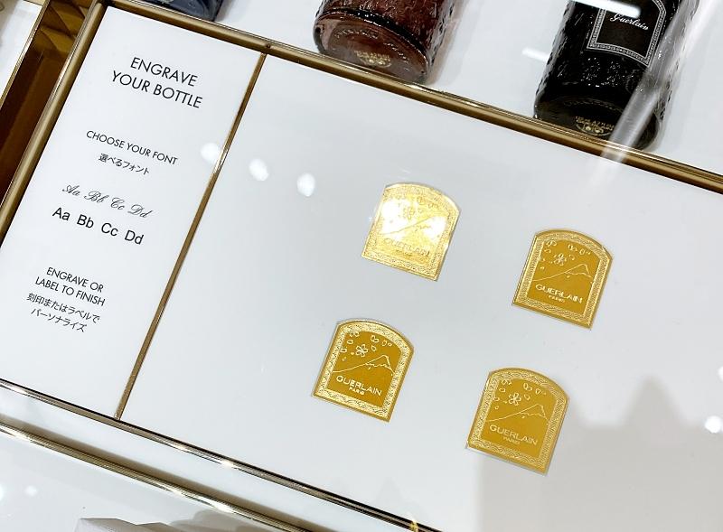 ラブティックゲランGINZASIXの店頭では香水のラベルも選べる