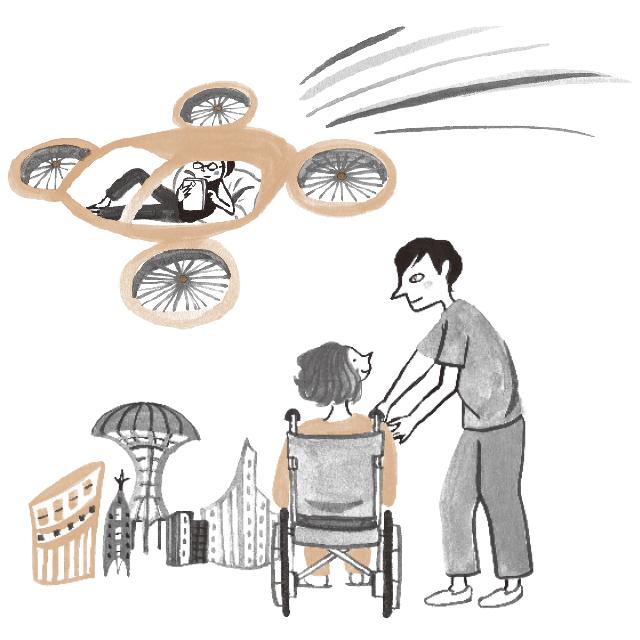 空飛ぶ車やAIロボットの実用化