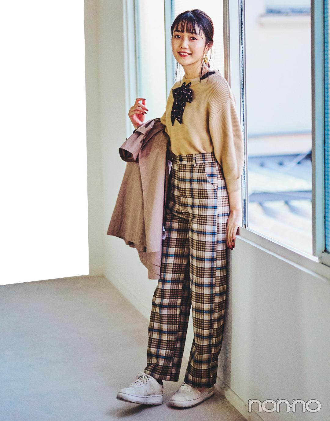 武田玲奈&松川菜々花の冬私服♡ ZARAのニット、韓国通販のパンツが大活躍_1_6