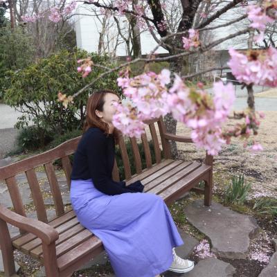 春の旅行にピッタリ!ミラオーウェン4桁プライスのリネンカラースカート_1_2-1