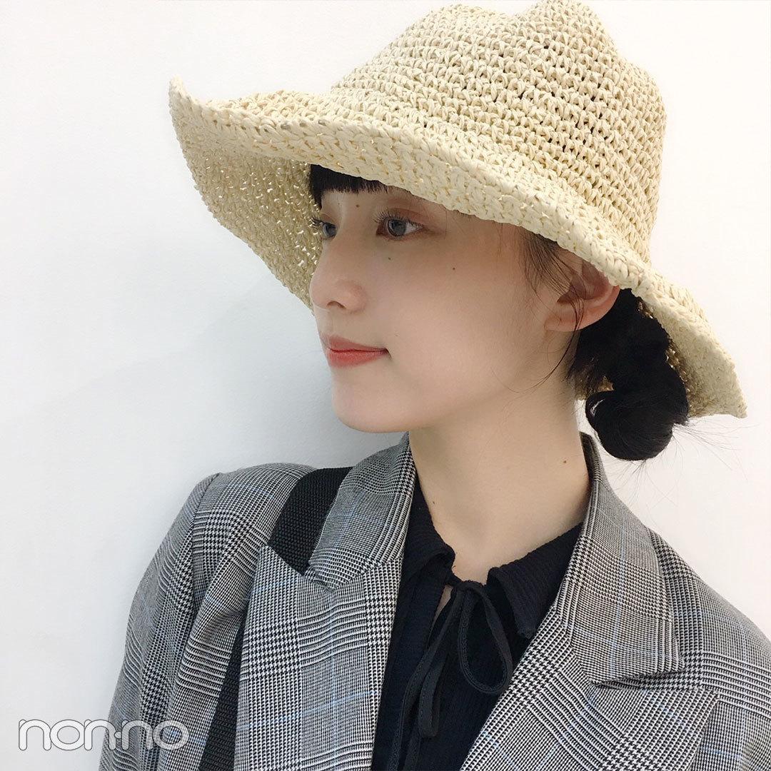 山田愛奈は麦わら帽子とクリアバッグで夏っぽコーデ♡【モデルの私服スナップ】_1_2-1