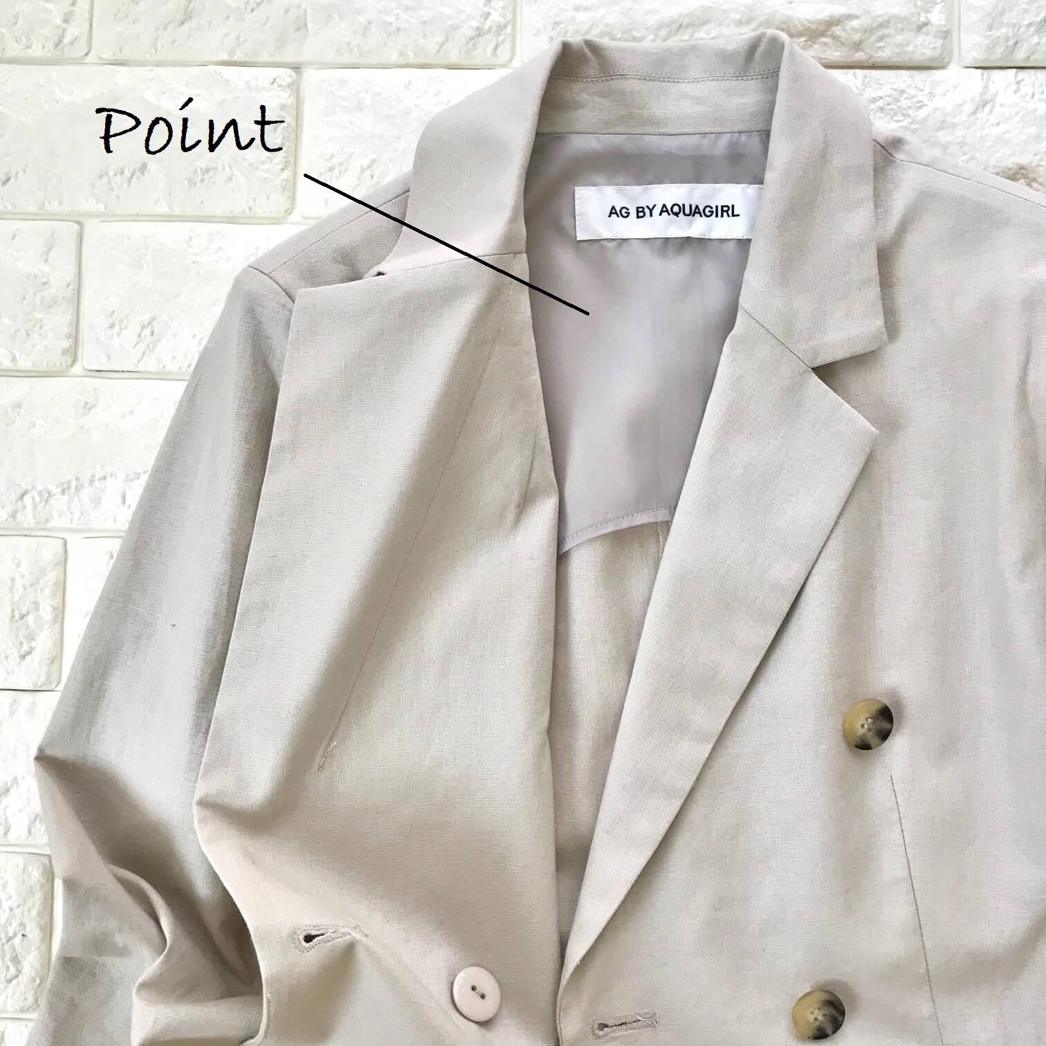 AG by aquagirl のジャケット生地アップ画像