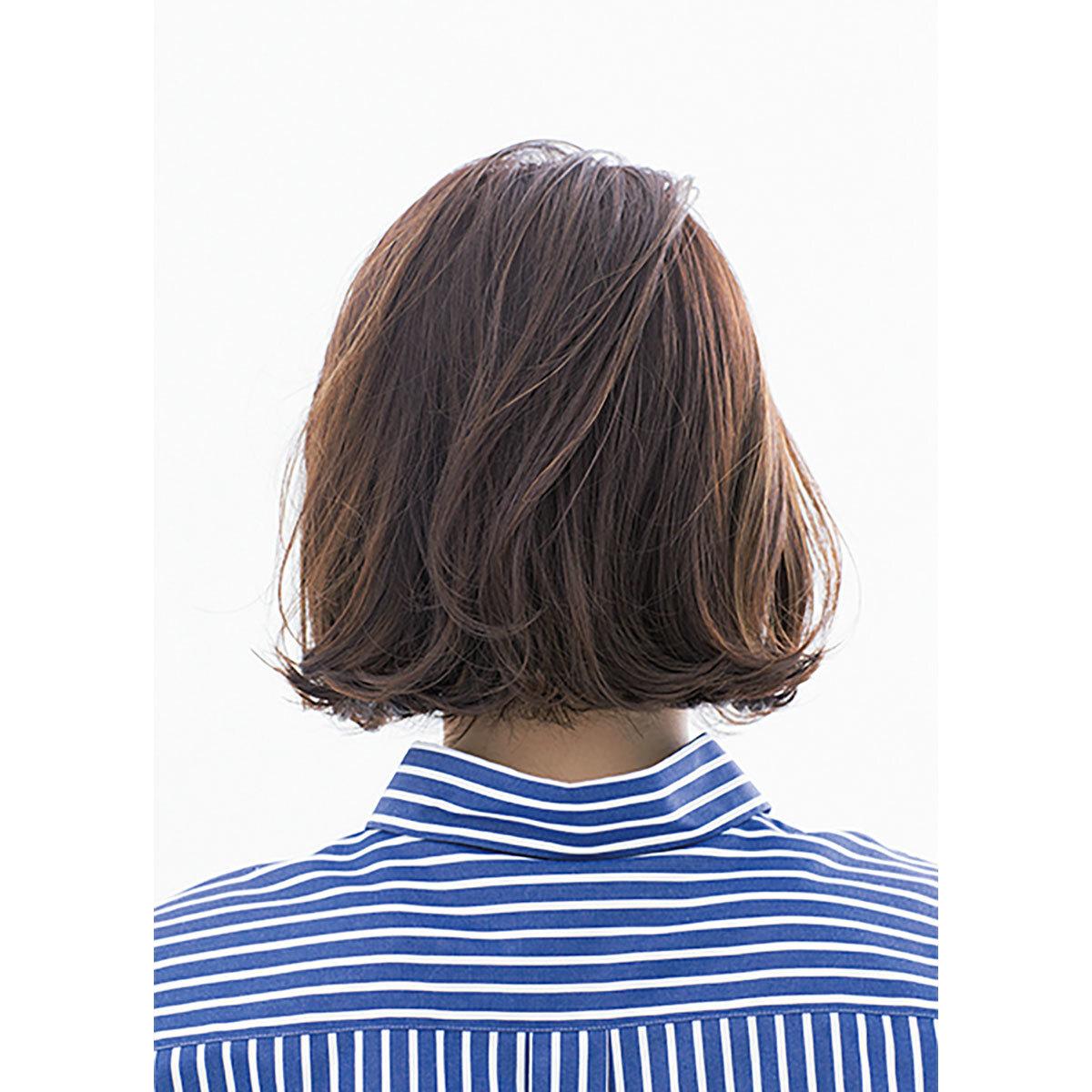 後ろから見た40代に似合う髪型 ヘアスタイル人気ランキング5位