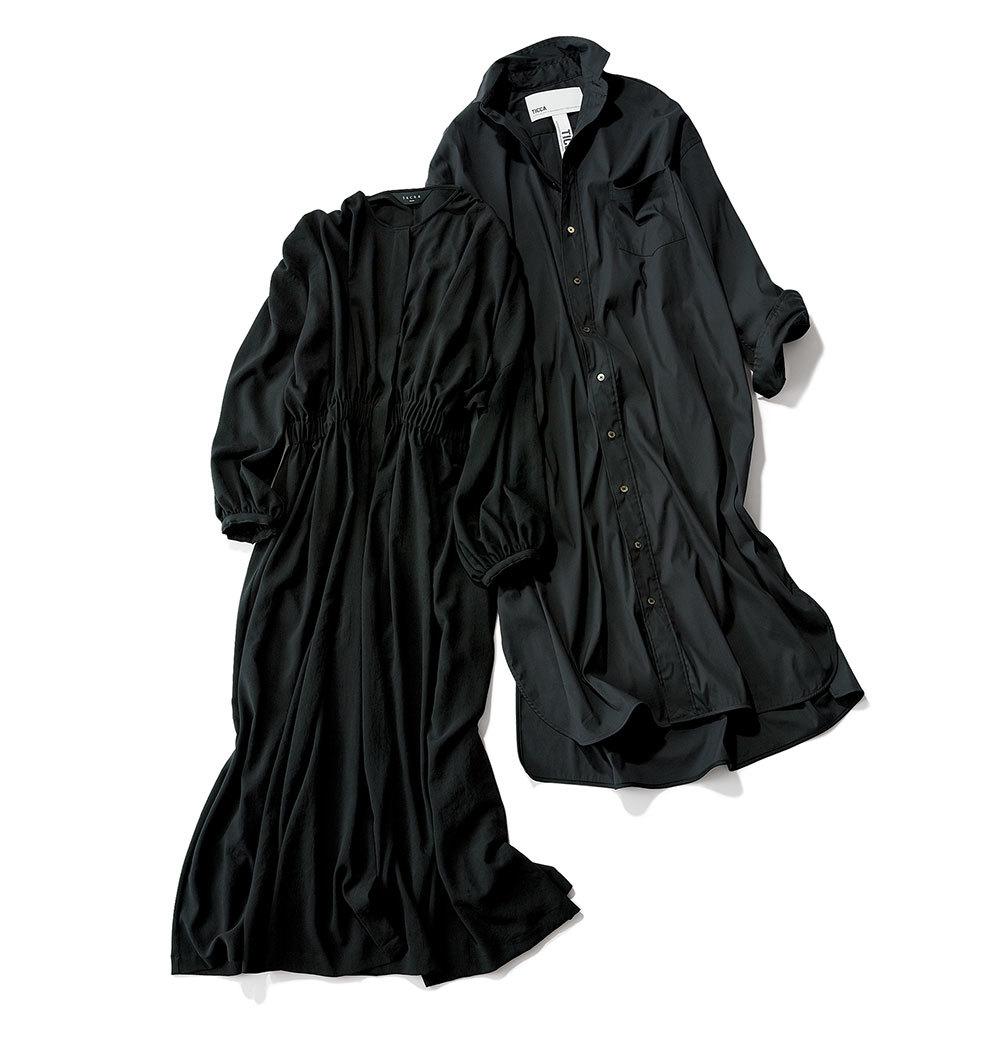 秋ファッション ワンピース 黒