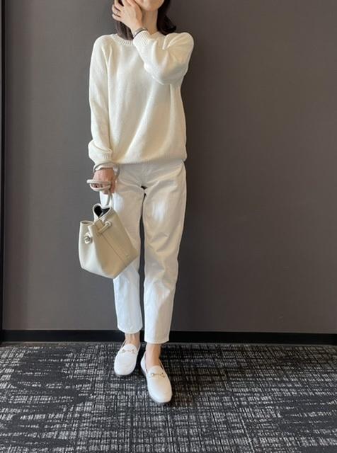 【ユニクロ】私の次世代パンツはホワイトテーパードデニム_1_3-2