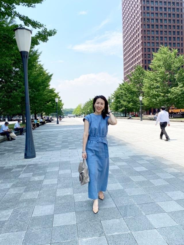 【夏に映えるブルーコーデまとめ】アラフォーが上品かつこなれて見えるコーデのポイントとは? |40代ファッション_1_16